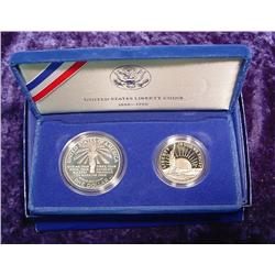 1986 S U.S. Liberty Two-Coin Proof Set