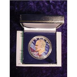 1776-1976 Colorized Eisenhower Dollar.