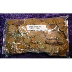 (500) Mixed Wheat Cents.