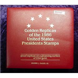 (36) 22Kt. Gold Stamps, Presidents