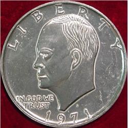 "1971 Eisenhower Dollar 3"" Coaster."