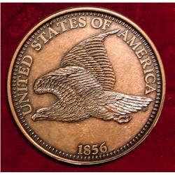 "1856 Flying Eagle Cent. 3"" Coaster."