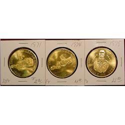 1971, 74 & 75 Emmetsburg Irish Medals