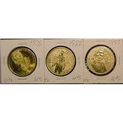 1976, 82 & 83 Emmetsburg Irish Medals