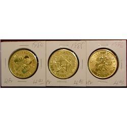 1984, 85 & 86 Emmetsburg Irish Medals.