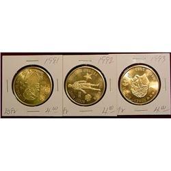 1991, 92 & 93 Emmetsburg Irish Medals