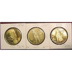 1994, 95 & 97 Emmetsburg Irish Medals