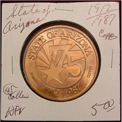 1912-87 State of Arizona 75th Aniversary