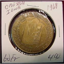 1969 Creston, Iowa Centennial Medal.