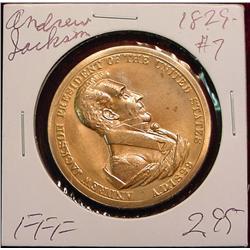 1829 US Mint Andrew Jackson Peace