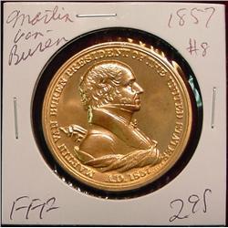 1857 US Mint Martin Van Buren Peace