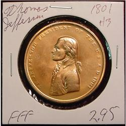 1801 US Mint Thomas Jefferson Peace