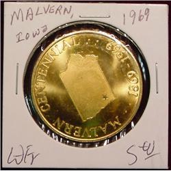 1969 Malvern, Iowa Centennial Medal.