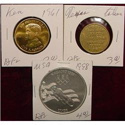 (3) Different Medals, Kennedy, Olympics