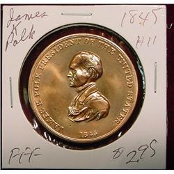 1845 US Mint James Polk Peace Medal
