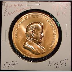 1857 US Mint James Buchanan Peace