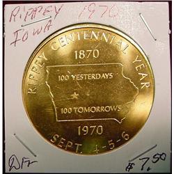 1970 Rippey, Iowa Centennial Medal.