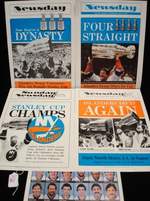 NEWSDAY Copies of Islanders Four Stanley Cup Wins: