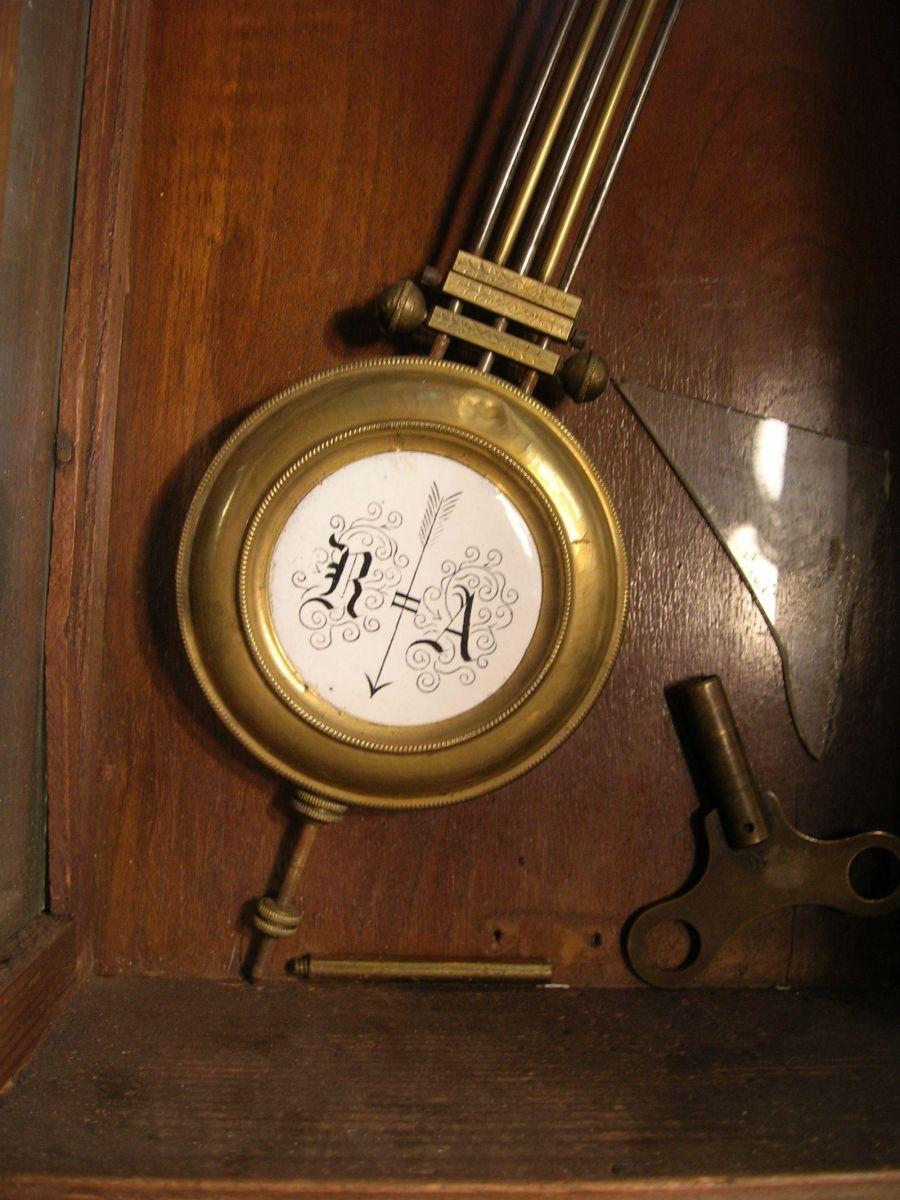 Antique Quot Ra Quot Pendulum Wall Clock