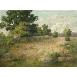 Lydia Mariah Brewster Hubbard (American, 1849-1911) Landscape, Oil on canvas,