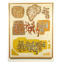 Sebastien Hadengue (French, b.1932-) Les miettes: hiver, 1961-62, Oil on canvas.
