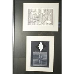 Victor Vasarely (Hungarian/French, 1908-1997) Double Framed Prints. Both 193/650, Signed lower right