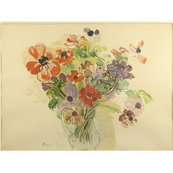 Raoul Dufy (French, 1877-1953) Vase of Flowers, Lithograph, Edition 53/400.