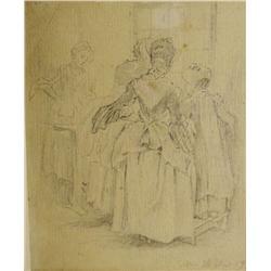 18th Century French School Figural Study,