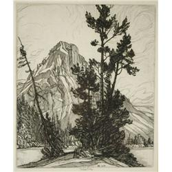 Roi Partridge (American, 1888-1984) In Glacier Park, 1929, Etching,