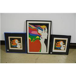 John Eastman (20th Century) Three Serigraph Prints.