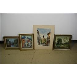 A Group of Three Decorative Paintings,