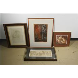 A Group of Four Decorative Prints,