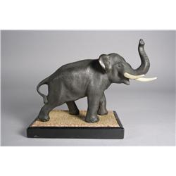 A Japanese Bronze Figure of an Elephant.