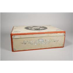 A Korean Lacquer and Mother of Pearl Box.