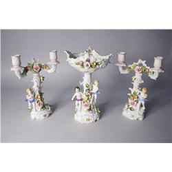 A Continental Porcelain Garniture Set.