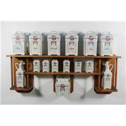 A Continental Porcelain Spice Set,