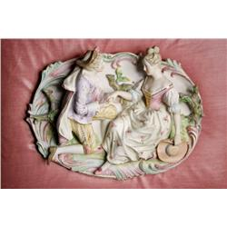A 20th Century Framed Continental Porcelain Plaque.