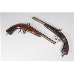 Two 19th Century Belgian Percussion Pistols.