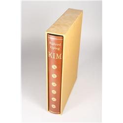 Limited Editions Club Book, Kim by Rudyard Kipling, signed by the illustrator Robin Jacques.