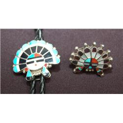 ZUNI BOLO AND RING