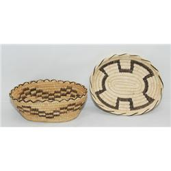2 PAPAGO BASKETS