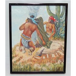YAVAPAI APACHE PAINTING