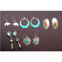 5 NAVAJO ZUNI PR EARRINGS