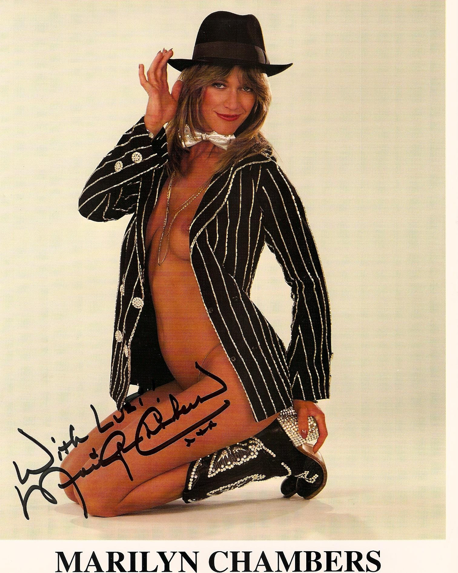 Marilyn chambers photos Marilyn Chambers Signed Photo