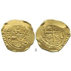 Mexico City, Mexico, cob 8 escudos, 1710J, very rare.