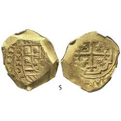 Mexico City, Mexico, cob 8 escudos, 1713J, from the 1715 Fleet, encapsulated NGC MS-63, choice grade