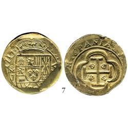 Mexico City, Mexico, cob 8 escudos, 1714J (full date), from the 1715 Fleet, encapsulated NGC AU-50.