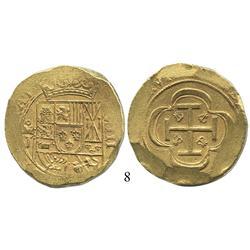 "Mexico City, Mexico, cob 8 escudos, (1714)J, scarce variety with ""GRAT"" (Fisher photo-cert. #18331)"