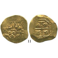 Mexico City, Mexico, cob 4 escudos, date and assayer not visible (style of 1702-10, oXMJ), from the