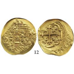 Mexico City, Mexico, cob 4 escudos, 1713J, from the 1715 Fleet, encapsulated NGC MS-63.